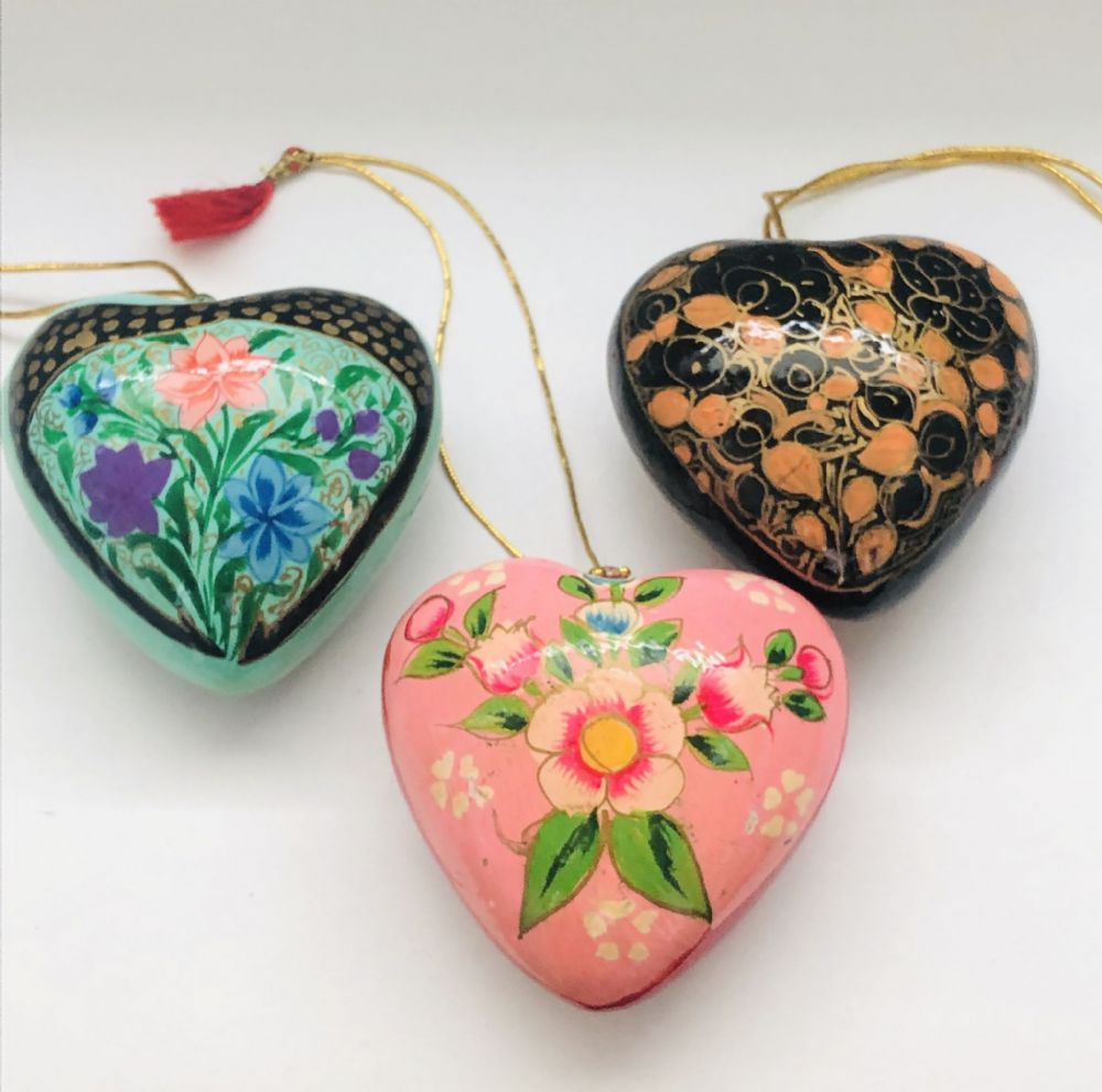 Painted Hanging Heart Ornament